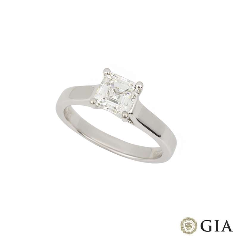 18k White Gold 1.20ct Asscher Cut Diamond Ring G/VVS2